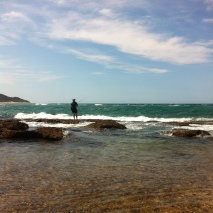 Fishing off Bhanga Nek Rocks
