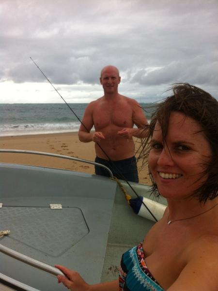 Fishing off the sandbanks