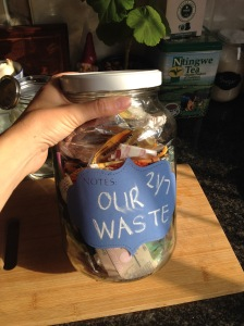 Jar of waste 21 July - 21 October 2015