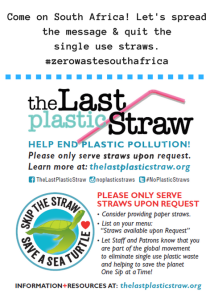 Come on South Africa! Time to quit the single use straws. Let's spread the message. #zerowastesouthafrica