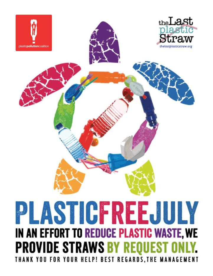 Plastic Free July - Straws