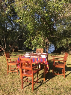 Breakfast at Kafue River Lodge