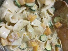 homemade pasta and cashew cream