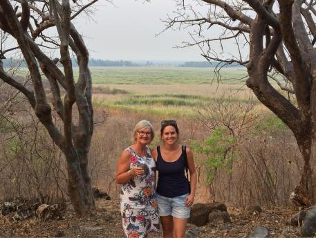 Mom & I in Zambia